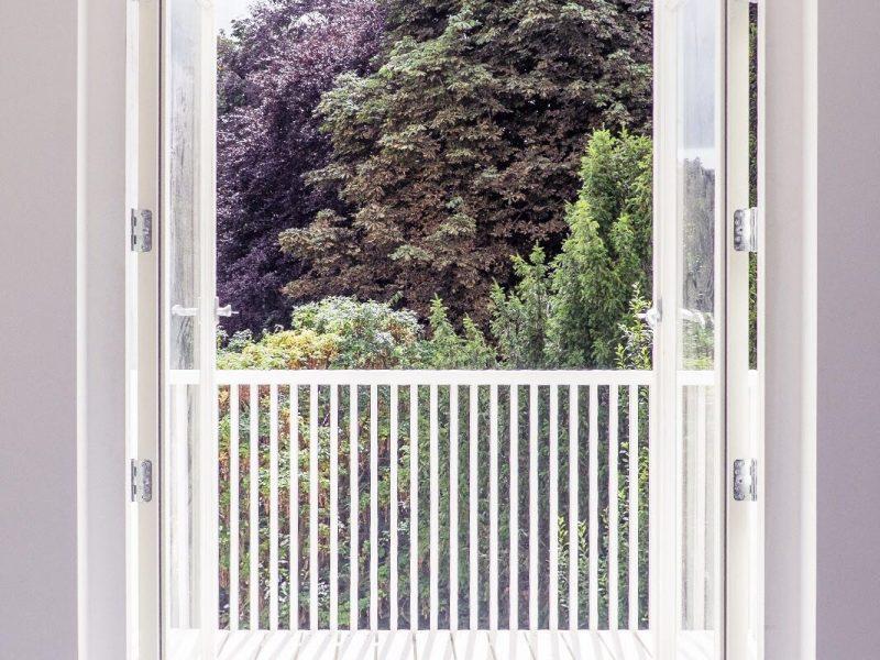 Balkon van binnen